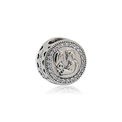 Pandora 潘朵拉 迪士尼系列白雪公主 鑲鋯純銀墜飾 串珠