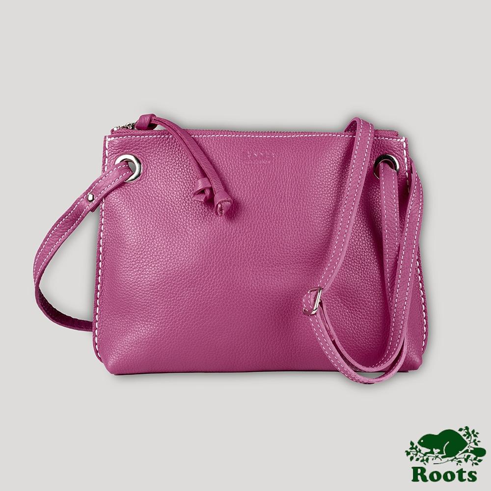 Roots艾迪側背包-粉色
