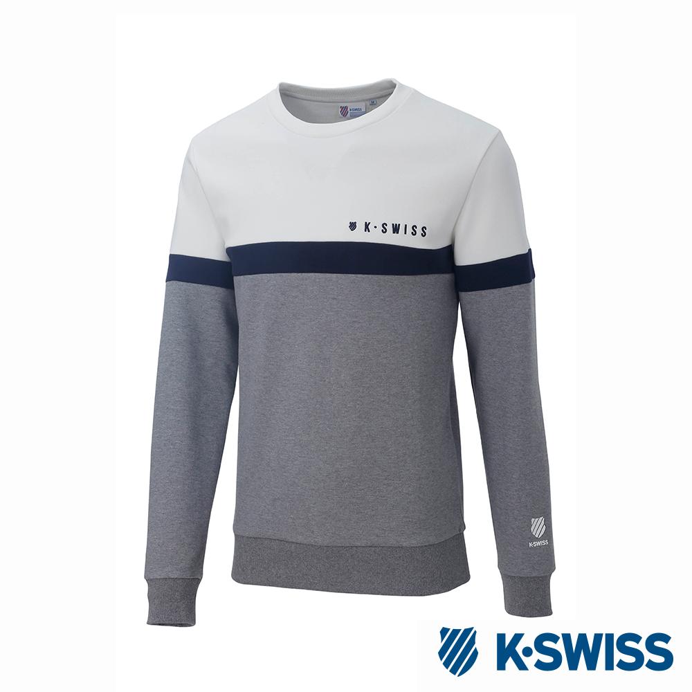 K-SWISS Round Sweat Shirts圓領長袖上衣-男-灰