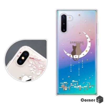 Corner4 Samsung Note 10 奧地利彩鑽雙料手機殼-相愛貓咪