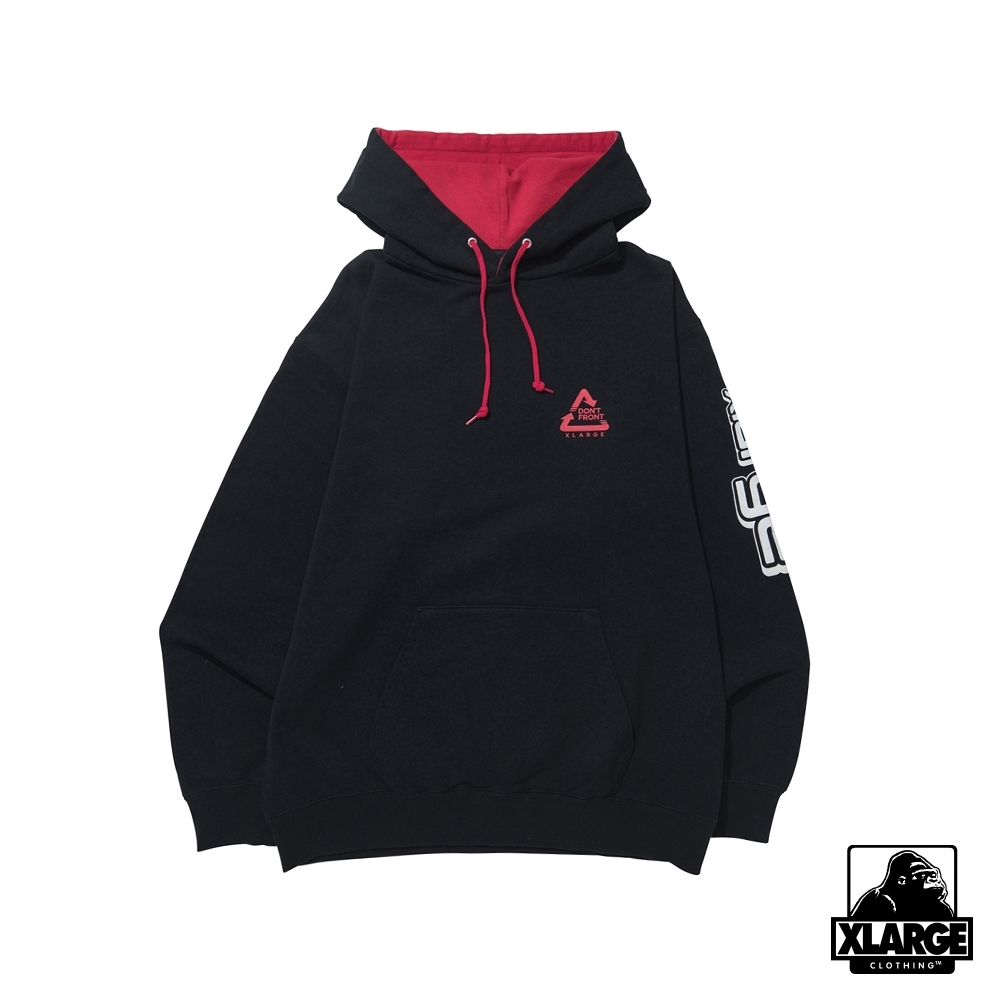 XLARGE BICOLOR HOODED SWEAT連帽上衣-黑 product image 1