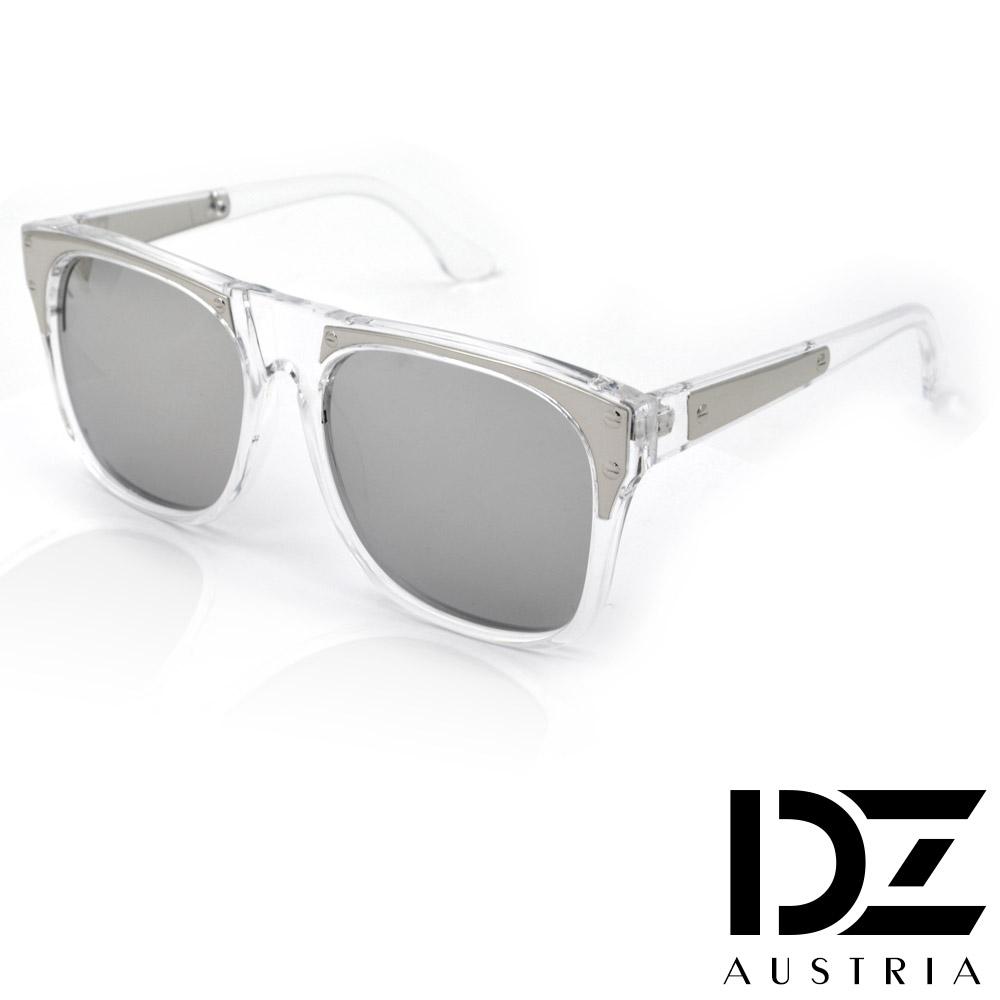 【2件59折】DZ 明星街頭 防曬抗UV太陽眼鏡造型墨鏡(透框水銀膜)