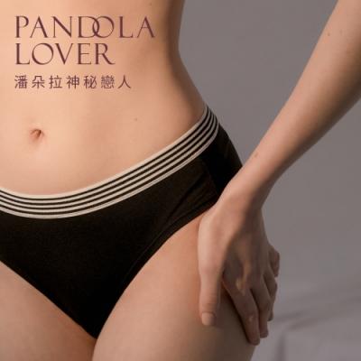 潘朵拉神秘戀人-運動彈性橫條內褲S10130(黑色)