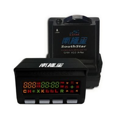 南極星 GPS-858+雷達 彩屏雙顯示 分體測速器