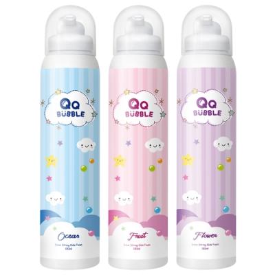 QQ Bubble 神奇好玩魔法沐浴泡泡慕斯~可以玩的泡泡慕斯(超值3入)1藍+1粉+1紫