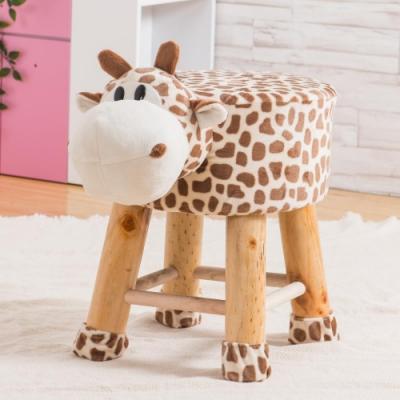 Abel-可愛Q萌動物造型凳/穿鞋椅-長頸鹿-29x29x35cm
