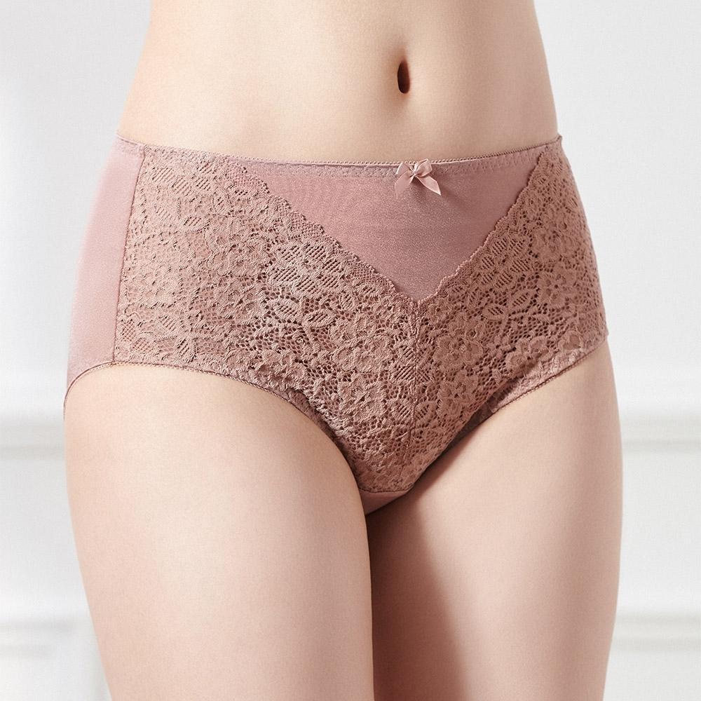 黛安芬-美型嚴選系列高腰內褲 M-EEL 巧克力慕斯