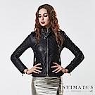 INTIMATUS 真皮 菱格紋超柔軟頂級小羊皮皮衣 經典黑