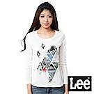 Lee 拼接印刷長袖TEE