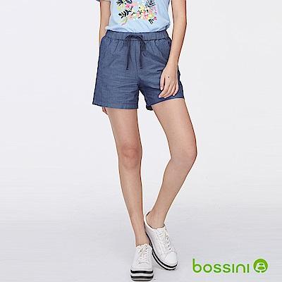 bossini女裝-素色輕便短褲02牛仔藍