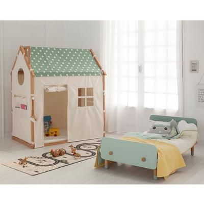 【HOPPL】HOUSE & BED 遊戲城堡屋床套組-簡約白