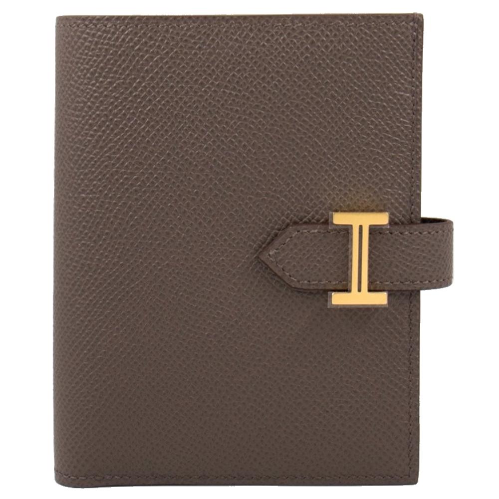 Hermes Bearn 短夾 (錫灰 Etain x 金釦) Bearn Compact H扣/H釦 Epsom