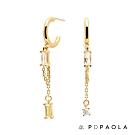 PD PAOLA 西班牙輕奢時尚品牌 Salma 戀鍊晶透鋯石鍍18K金耳環