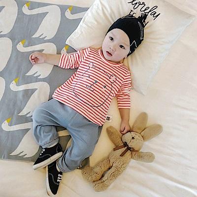 Baby unicorn 淺藍蘑菇牛仔長褲