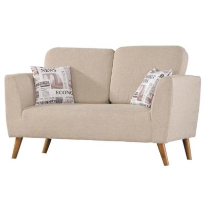 文創集 拉索時尚亞麻布二人座沙發椅-140x80x70cm免組