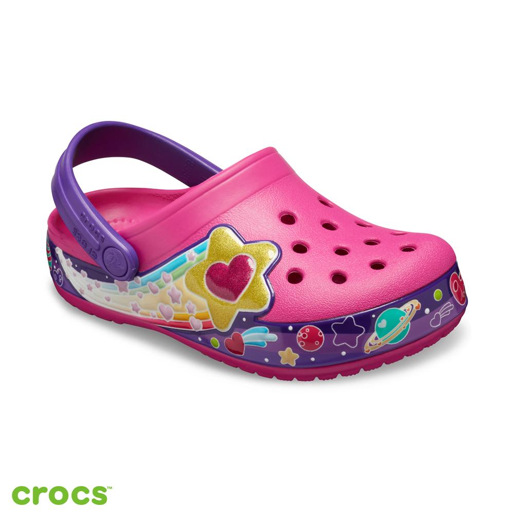 Crocs 卡駱馳 (童鞋) 趣味學院銀河愛心小克駱格 205952-670