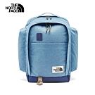 The North Face北面男女款藍色拼接舒適防護休閒後背包|3KY2FC9