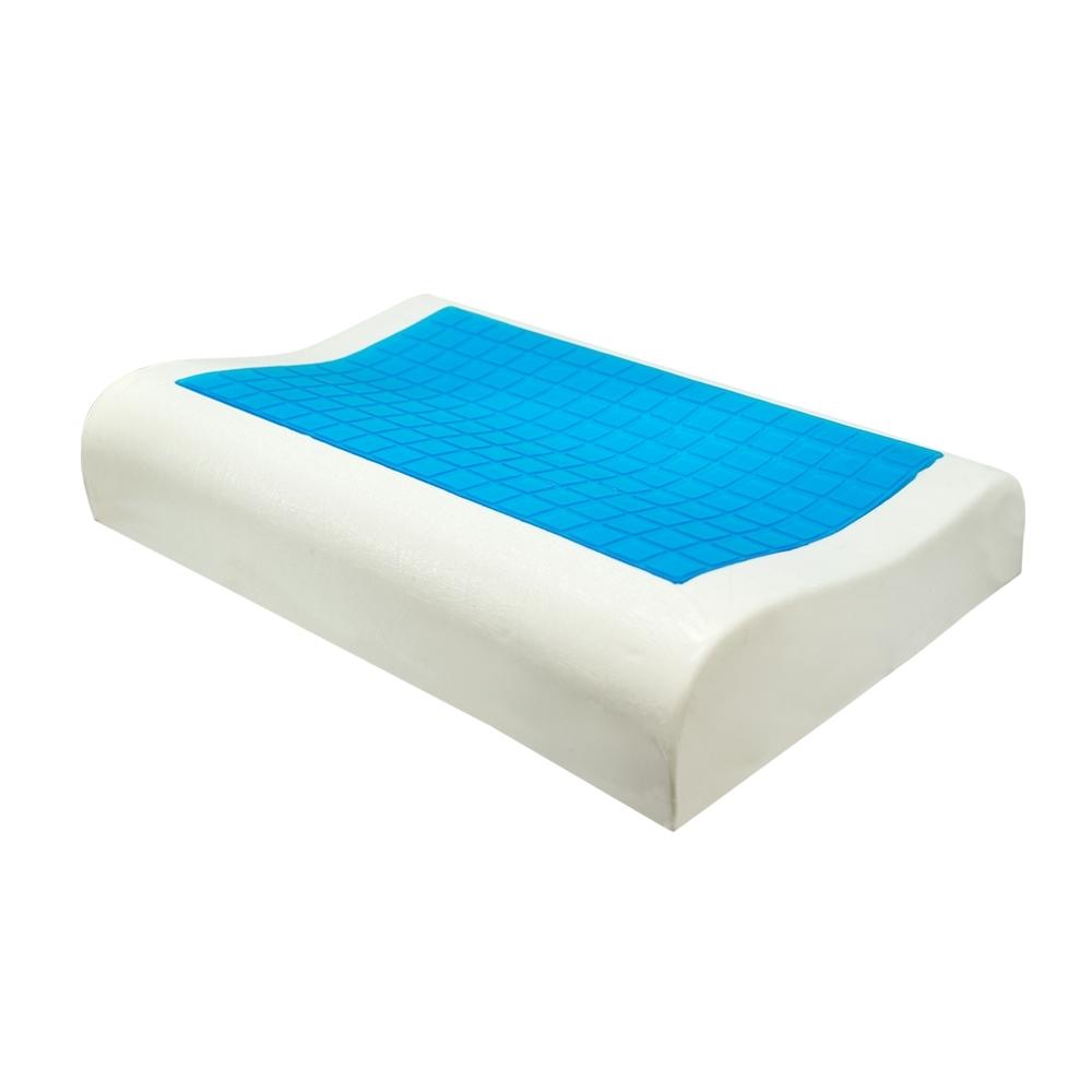 亞曼達Amanda 沁涼凝膠釋壓記憶枕 -人體工學型(1入)