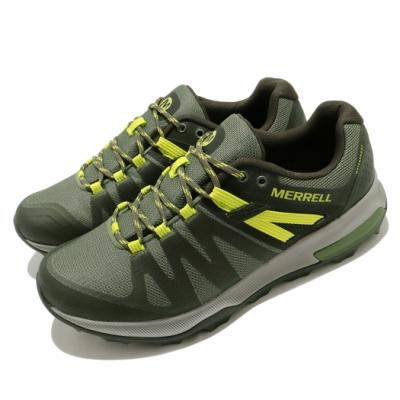 Merrell 戶外鞋 Zion FST Waterproof 男鞋 登山 越野 防水 透氣 支撐 避震 膠底 綠 黃 ML035335