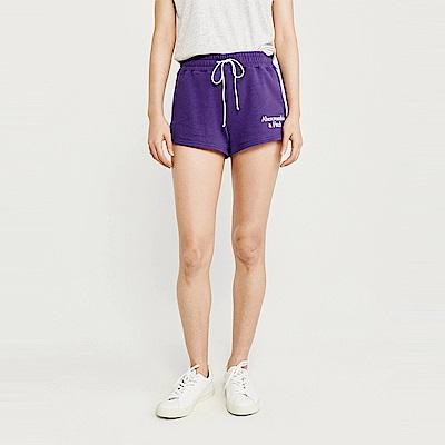 麋鹿 AF A&F 經典標誌設計短棉褲(女)-紫色