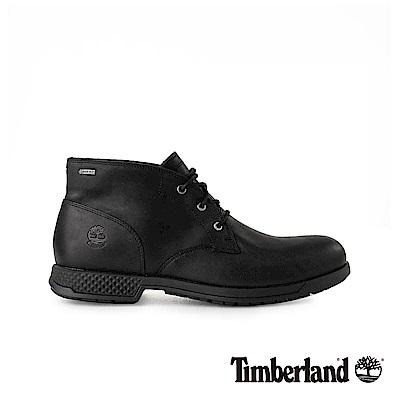 Timberland 男款黑色全粒面皮革休閒鞋 A1SMX