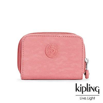 Kipling薔薇粉喧染素面短夾