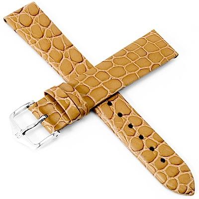 海奕施 HIRSCH Sobek L亮感小牛皮手錶帶-棕色