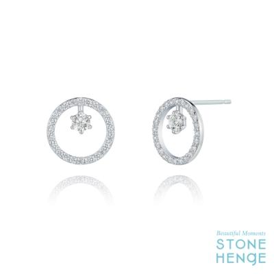 STONEHENgE 斯通亨奇 觸及真心同款純銀圓形鋯石耳飾