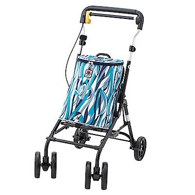 【樂齡網】Zojirushi-Baby中型散步購物車 - Withone藍白條紋