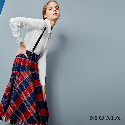MOMA 學院風格紋吊帶裙