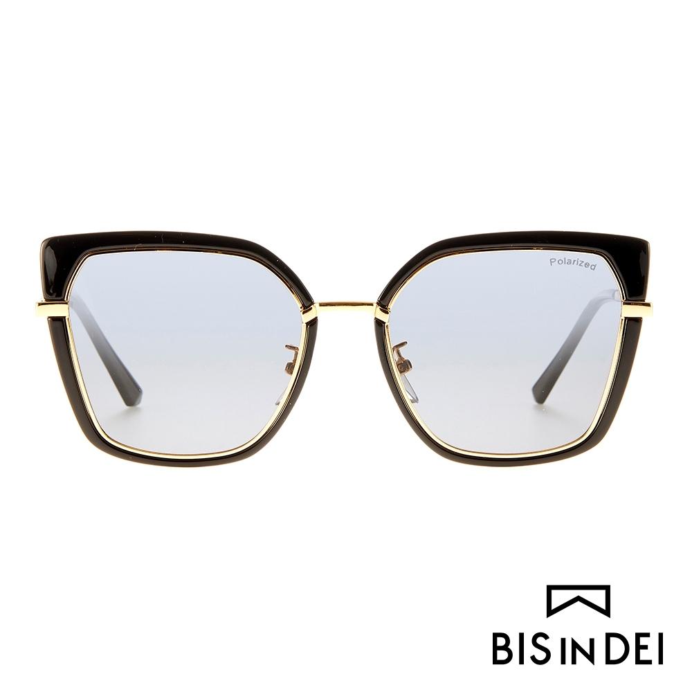 BIS IN DEI 不低調個性方框太陽眼鏡-黑