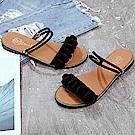 韓國KW美鞋館 甜心獨家超輕量平底涼鞋-黑色
