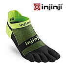 【INJINJI】RUN 輕量吸排五趾隱形襪-灰綠