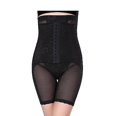 排扣素脫高腰平腹半身提臀塑身褲 (黑XL-4XL)   狐狸姬