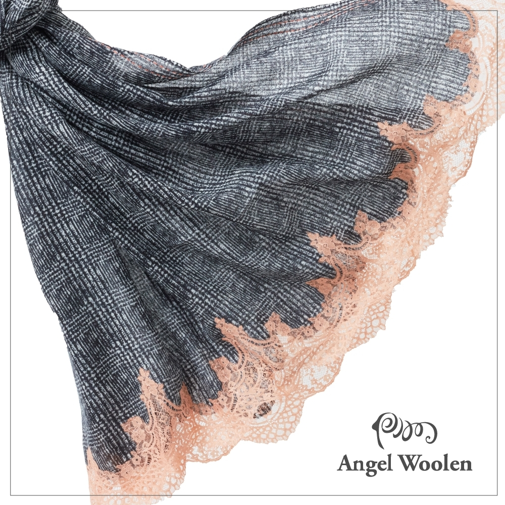 【ANGEL WOOLEN】絕色佳人印度手工蕾絲披肩(共四色)