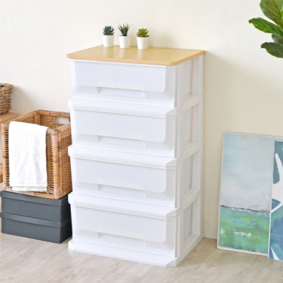 《HOPMA》DIY巧收四抽塑膠收納櫃/斗櫃/抽屜櫃-寬56X深40.5高87.5cm