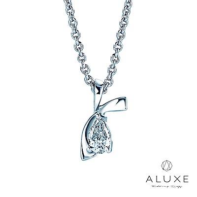 A-LUXE 亞立詩 Pure系列 0.13克拉 水滴梨型鑽項鍊