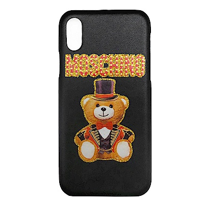 MOSCHINO 新款皇家熊熊 I Phone X手機殼 (黑色)