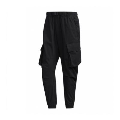 adidas 長褲 Cargo Pants 休閒 男款 愛迪達 工裝 大口袋 穿搭 寬鬆 黑 GM4418