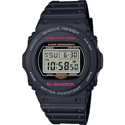 G-SHOCK 全球經典熱賣數位玩錶-液晶銀灰(DW-5750E-1D)/45mm