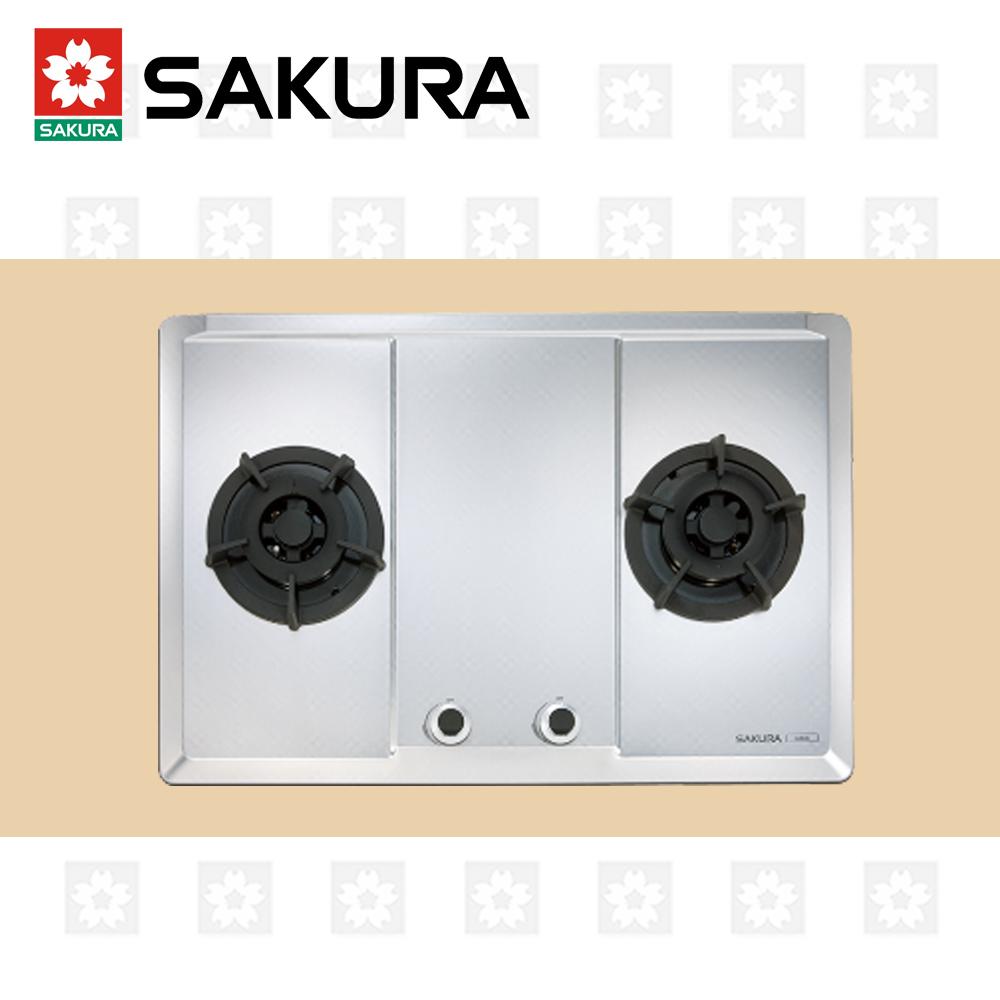 櫻花牌 SAKURA 三口大面板易清檯面爐 G-2633S 天然瓦斯 限北北基配送