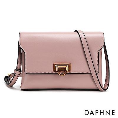 達芙妮DAPHNE-D字釦斜背小方包-粉紅