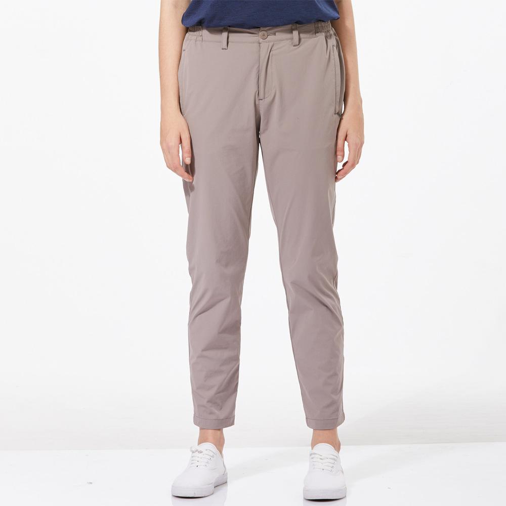 【HAKERS 哈克士】女 抗UV快乾彈性修身九分褲-溫鐵灰