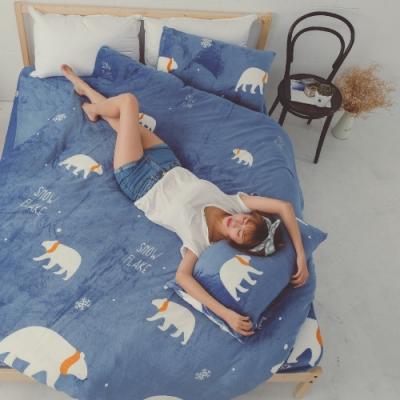 BUHO 極柔暖法蘭絨(6x7尺)標準雙人兩用被套毯(漂浮星球)