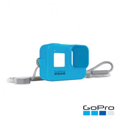 GoPro-HERO8 Black專用矽膠護套+繫繩-晴空藍AJSST-003