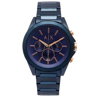 A/X ARMANI EXCHANGE 三眼計時手錶(AX2607)-藍面/43mm