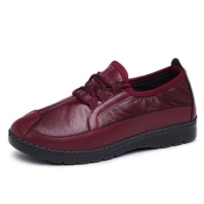 韓國KW美鞋館-經典時尚英倫休閒鞋-紅色