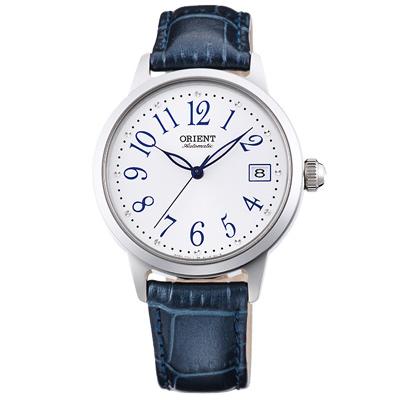 ORIENT東方晶鑽縷空機械錶手錶FAC06003W-白X藍/35.5mm