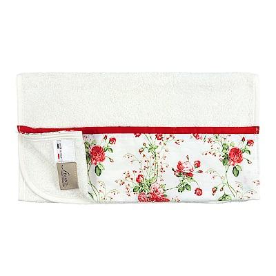 日本丸真 義大利製頂級純棉厚磅飯店毛巾-浪漫紅玫瑰