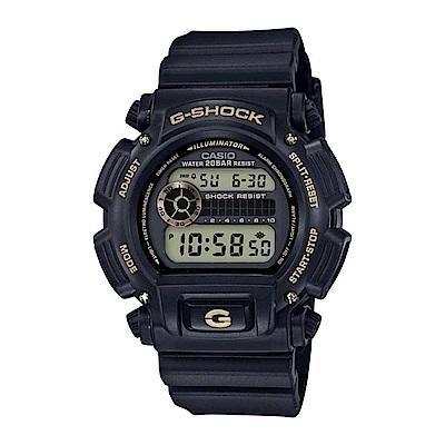 G-SHOCK 80年代經典款復刻誕生限定休閒錶(DW-9052-1A9)金43mm